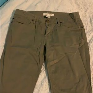 Forever 21 Army Green Skinny Jeans